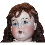 "26"" Tall Marked O on head, Antique German Doll, Big Beautiful doll! sleep eyes that work, plaster pate  old clothes and vintage shoes. Kestner doll"