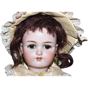 "18 1/4""  tall Heinrich Handwerck, Head by Simon Halbig, German Antique Bisque head doll. No hairlines, Cryer mechanism inside that works! Rare!"