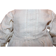 "Doll Dress, 16 1/2"" long from shoulder to hem,  cotton, pleats, crochet at the bottom, pantaloons, 2 slips for  20-22"" tall doll."
