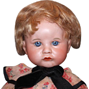 Rare SFBJ Character Doll, mold # 252 Baby, bisque head, composition body, leather antique shoes, great clothes, French baby!