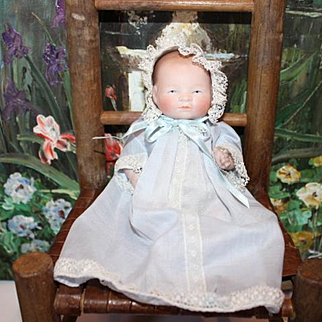 "6"" All bisque Bye-Lo Baby by J. D.  Kestner  German bisque Doll"