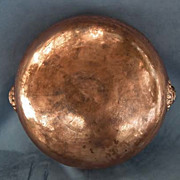 Antique Chinese 16th -18th century Large Copper Bowl in Islamic Style