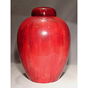 Large Antique William Moorcroft Flambé Ginger Jar Vase Dated 1939
