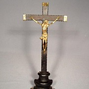 Antique Spanish Crucifix Baroque, 17th Century