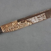 Antique Dagger Ceylonese Sinhalese Ppiha – kaetta Knife 18th century Sri Lanka