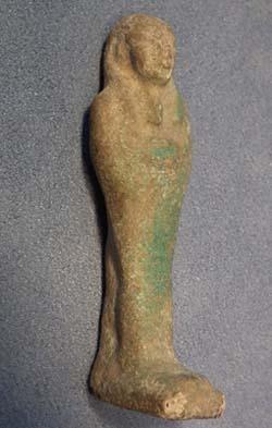 Ancient Egyptian Faience Ushabti Shabti circa 800-300 BC