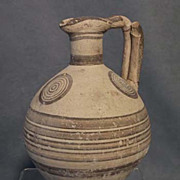 Ancient Cypriot Bichrome Ceramic Wine Jug CYPRUS 750-600 BC