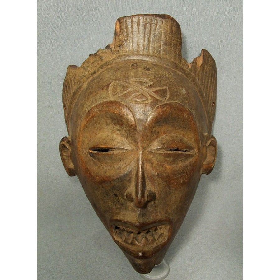 Antique African Wooden Mask Chokwe Angola from 101antiques ...