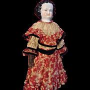 17 China, original body and wonderful Edwardian dress