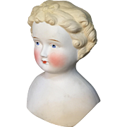 Huge Parian doll head