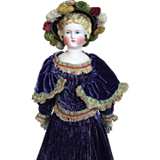 Magnificent Parian lady in Antique Purple gown
