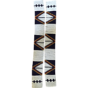 Antique Blackfoot beaded men's legging strips