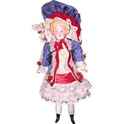Cute King girl in outstanding handmade dress