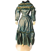 beautiful 16' antique shot silk china doll dress