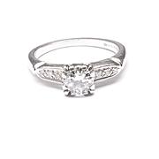 Diamond Engagement Ring in Palladium, c. 1940