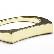 14-Karat Yellow Gold Bangle Bracelet with Concave Top, c. 1980s