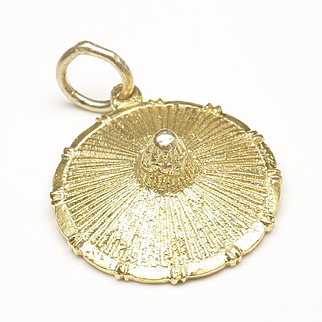 Asian Straw Hat Charm, c. 1970s