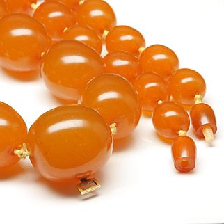 Butterscotch Amber Necklace, c. 1960s