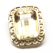 18-Karat Yellow Gold Citrine Pendant, c. 1970