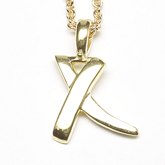 """X"" Love Pendant by Tiffany"