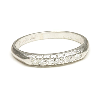 Platinum Diamond Wedding Ring, c. 1925