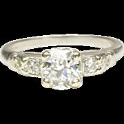 Classic 1940s Diamond Engagement Ring in Platinum