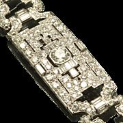 Grand Art Deco Diamond Bracelet in Platinum, C. 1930