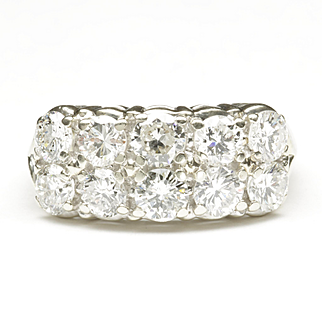 Two-Row Diamond Wedding Ring, C. 1975