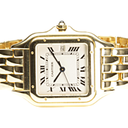 18-Karat Yellow Gold Cartier Panthere Quart Wrist Watch