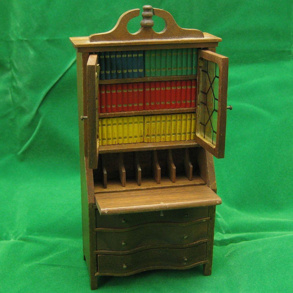 Vintage Strombecker Winthrop Secretary Desk Dollhouse