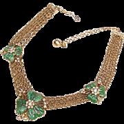 Hobe green  Mayorka Petals Necklace.