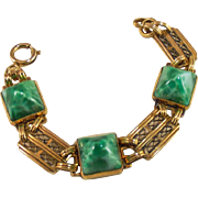 Art Deco Peking Glass Sugar Loaf Bracelet