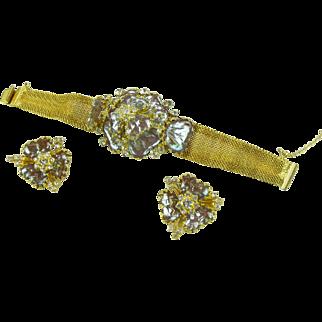 Hobe Saphiret Mayorka Petals Bracelet & Earring Set