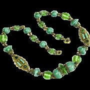 Czech, Neiger, Peking Glass Necklace