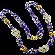 Archimede Seguso for Chanel Cobalt Blue Sautoir Necklace