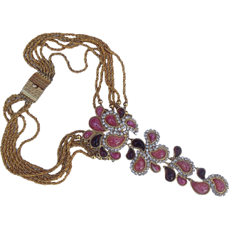 Christian Dior Couture Gripoix Glass Necklace