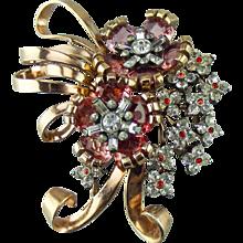 "Pennino Sterling ""Jewels of Fantasy"" flower spray Pin"