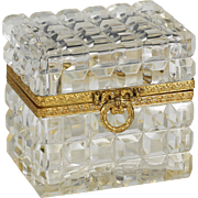 French clear crystal hinged Box casket Baccarat for Saks 5th Avenue