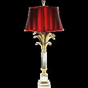 Vintage mid century modern art Desk table Lamp by Gaetano Sciolar Boulanger Reed