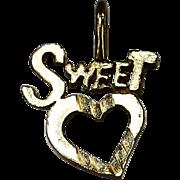 10k yellow gold Sweet Hart pendant