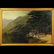 British Australian William Blamire Young 1862-1935 oil canvas landscape Painting