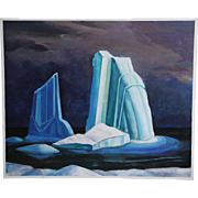 Oil on canvas painting after group of seven Lawren Harris ICEBERG