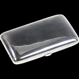 German silver 900 and Niello cigarette case gilded inside