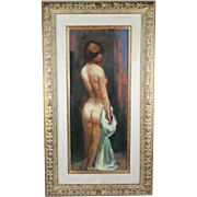 Oil on canvas painting by Czech - American artist Jan De Ruth 1922-1991 signed
