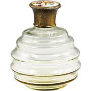 Vintage petit point hand embroidery Perfume Bottle