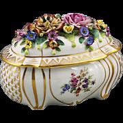 Antique Alfred Sitzendorf Germany hard paste porcelain Box