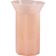 Vintage mid-century French pink opaline glass Vase