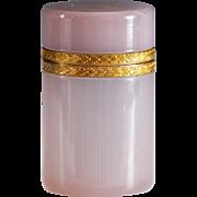 Czech Bohemian Moser Alexandrite Neodymium art glass hinged box