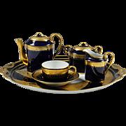 Art Deco France Limoges Porcelain Tea Set tray tea pot creamer sugar