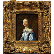 Antique portrait oil on panel painting circle Gerard Ter Borch younger 1617-1681